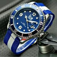 Jam tangan pria sporty Ice Watch kanvas