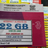 Perdana Paket Data Kuota Internet Three 3