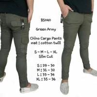 Jual celana chino kargo warna hijau army Murah