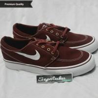 Sepatu Nike SB Zoom Stefan Janoski Maroon - Premium Quality