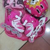 Jual termurah sepatu roda anak fullset ( helm dan dekker ) free baut bajaj Murah