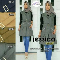 Jessica vest/outer cigarete/outer muslimah