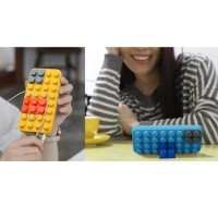 PROMO 3D BUILDING BLOCKS BRICK STYLE SOFT SILICONE CASE FOR IPHONE 6 -