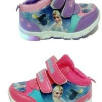 Jual sepatu anak frozen HIGH lampu led import + box Murah