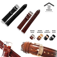 20mm Tali Jam Kulit Vintage Genuine Leather Watch Band Strap
