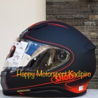 Helm Shoei Z7 original Japan Flagger Series black matt Red size M L XL