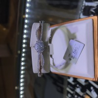 Gelang berlian eropa model bulat full diamond emas putih rosegold