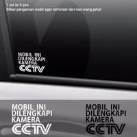 Harga Promo New Stiker Mobil Pengaman Dilengkapi Cctv Safety Cutting Sticker | WIKIPRICE INDONESIA