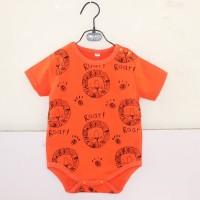 Romper baby orange gambar singa lucu import murah bagus