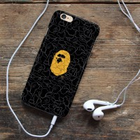 Bape Bathing iphone case 5s oppo f1s redmi note 3 pro s6 s7 Vivo