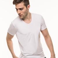 MR.W Low Round Neck Shirt WMS 70001B-Isi 3-White - L(WMS 70001B WWW L)