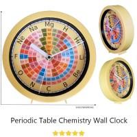 Jam Dinding Kimia E02 / Jam Duduk / Jam Meja / Jam Tabel Periodik