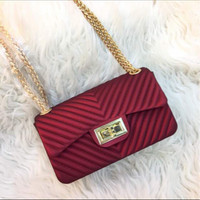 Tas wanita cewe supplier brand murah import batam jelly metro chevron
