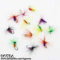 Mata pancing kail serangga / umpan serangga bentuk rambut / bulu