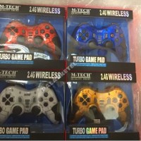 Gamepad wireless single turbo getar M-tech 2.4G joystick pc ps2 ps3