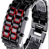 Jual Promo Jam Iron Samurai Tokyoflash Tokyo Flash KW Black Red LED Watch Murah