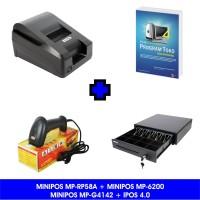 Paket Komputer Kasir Toko Murah 04 |Software|Printer|ScannerLaser|Laci