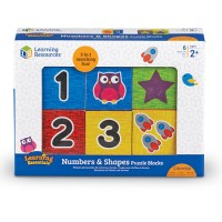 Learning Essentials Numbers & Shapes Puzzle Blocks LER-7721 Edukasi