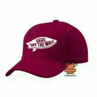 Topi Baseball vans maroon-tisha store