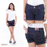 Celana Pendek Hotpants Polos Skinny Jeans Wanita Denim JSK6037