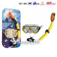 Intex 55960 Silicone Aviator Pro Swim Set [8+] / Mask + Snorkel Anak