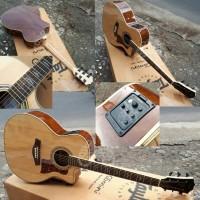 Gitar Akustik elektrik AUDI maple fishman presys fender