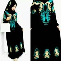 Jual Baju Gamis Pesta bordir biru | muslimah-pasmina-hijab-gamis syar'i Murah