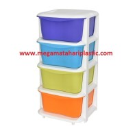 Laci / Lemari Tower Container Susun 4