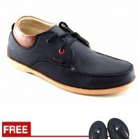 Jual Sepatu Sneakers Redknot Pria cowok kuliah Hitam Original AS-47 Murah