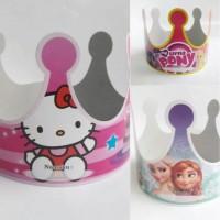 Topi Kertas Mahkota Perlengkapan Pesta Ulang Tahun Ultah Anak Karakter