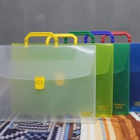 Carry file pegangan case box folio plastik transparan tempat dokumen