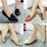 Flatshoes Kulit Ular Sintetis ML04
