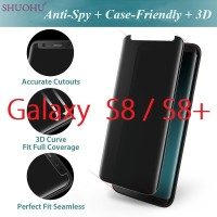 Samsung Galaxy S8 S8 Plus - Anti-Spy Case Friendly 3D Tempered Glass