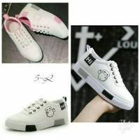 Sepatu Sneakers Wanita Pink/Hitam Milk Baymax Hi Suplier Sepatu Murah