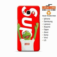 supreme Kermit case samsung j2 j3 j5 j7 a5 a7 s8 iphone 4 5 6 7 plus