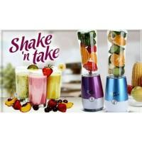 Jual SHAKE N TAKE MODEL (2Cup) PORTABLE BLANDER & JOUICE BOTTLE Murah