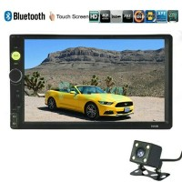 Tv mobil 2 Din 7 inch LCD double din bluetooth rear view camera cam