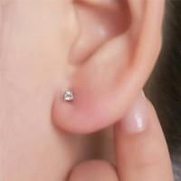 anting telinga hidung permata stainless steel size kecil 0.8mm