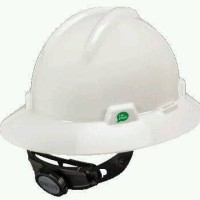 Helm safety / helm proyek MSA USA Full Brim with Fas trac model V