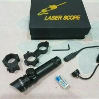Jual laser scope nyala merah Murah
