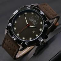 Jam Tangan Pria / Cowok Timberland Nelson Leather Dark Brown