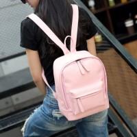 tas punggung backpack ransel abu light gray wanita modern modis simple