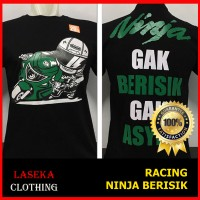 Kaos Distro Baju Murah Motor Drag Racing MotoGP Moto GP NINJA OGAH BAL