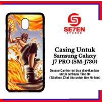 Casing Samsung J7 Pro SM J730 one piece wallpaper fire Custom Hard Cas