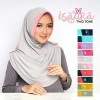 Jual PROMO TERMURAH TERLARIS Jilbab Instant Isaura Two Tone Murah