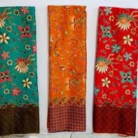 KBS013 Kain Batik METERAN Semi Sutra Bawahan Kebaya Modern Kutubaru