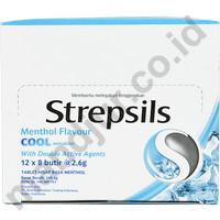 Strepsils (Menthol Flavor) Dus Isi 12 Sachet - pelega tenggorokan