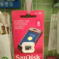 Micro Sd sandisk 8Gb Memory card kartu memori 8 gb class 10 sandish