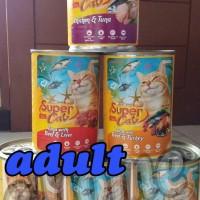 Makanan kucing kaleng SuperCat Adult 400 gr