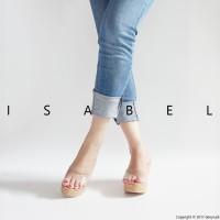 Sandal Wanita Terbaru 2017 Jessie Wedges - Transparant / Bening